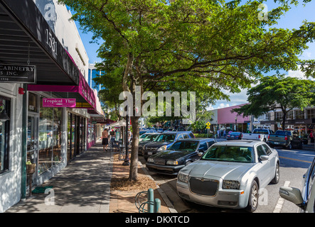 Main Street in historic downtown Sarasota, Gulf Coast, Florida, USA - Stock Photo