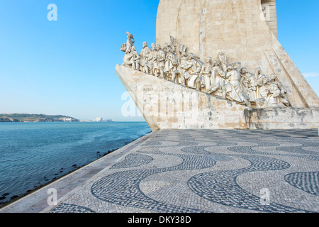 Monument to the Discoveries (Padrão dos Descobrimentos), Belem district, Lisbon, Portugal - Stock Photo