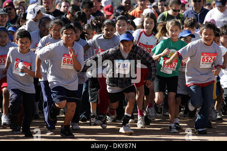 Feb 28, 2010 - Los Angeles, California, USA - Hundreds of kids run during the Kiddie Run as part of the 32nd Annual - Stock Photo