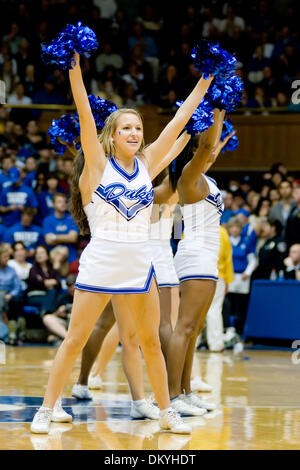 Jan. 17, 2010 - Durham, North Carolina, U.S - 17 January 2009: Duke Cheerleader..Duke outpaces Wake Forest 90-70 - Stock Photo