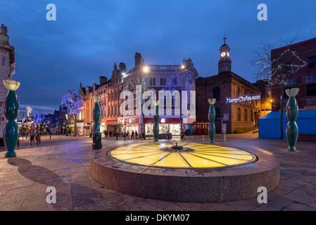 Warrington town centre christmas lights. 2013 - Stock Photo