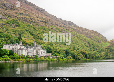 Kylemore Abbey Connemara county galway Ireland - Stock Photo
