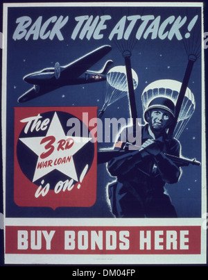 'Back the attack The 3rd war loan is on' 513919 - Stock Photo