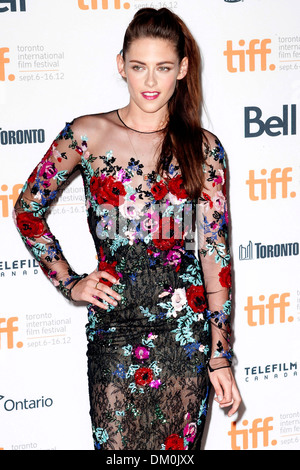 Kirsten Stewart 2012 Toronto Film Festival - 'On The Road' - Premiere Toronto, Canada - 06.09.12 - Stock Photo