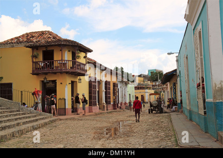 Casa de los Conspiradores, Calle Cristo, Plaza Mayor, Trinidad, Sancti Spiritus province, Cuba, Caribbean Sea, Central - Stock Photo