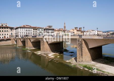 Ponte alle Grazie bridge, Florence, Italy - Stock Photo