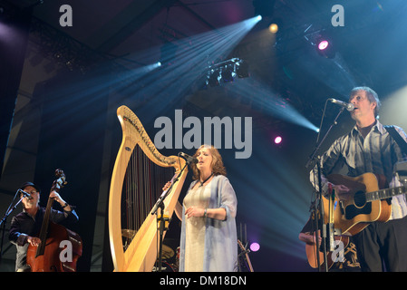 City of Lorient (Brittany) on 2013/08/07: Irish band Clannad in concert - Stock Photo