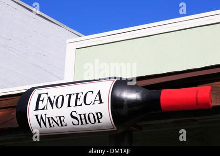 Enoteca wine shop in Calistoga,Napa Valley,California,USA