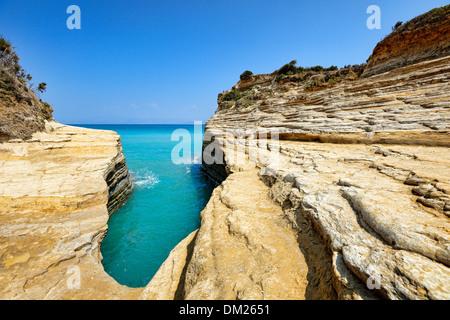 Canal D'amour in Sidari at Corfu, Greece - Stock Photo