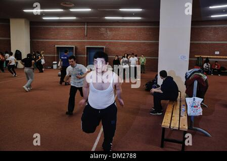 Feb. 15, 2013 - Greece - Individuals with down syndrome during a speed contest. Trisomy 21 or commonly known as - Stock Photo