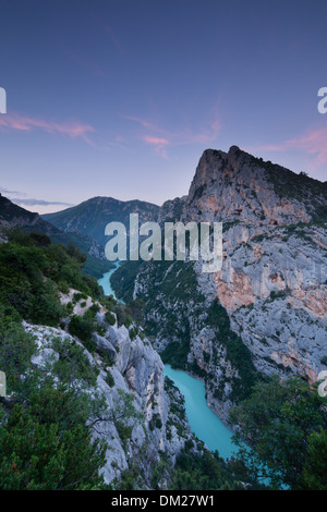 the Gorge du Verdon, Alpes-de-Haute-Provence, France - Stock Photo