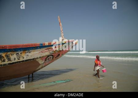 Yaf fishing village - Dakar, Senegal, West Africa. - Stock Photo