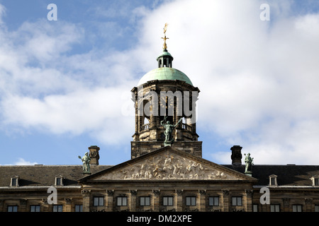 Royal Palace Dam square Amsterdam.the Netherlands - Stock Photo