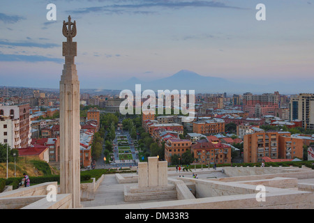 Armenia, South Caucasus, Caucasus, Eurasia, Cascade, Complex, Yerevan, Ararat, mountain, mountain, skyline - Stock Photo