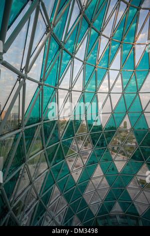 Azerbaijan Caucasus Eurasia Baku Bulvard Shopping architecture center city glass new open panorama park structure - Stock Photo