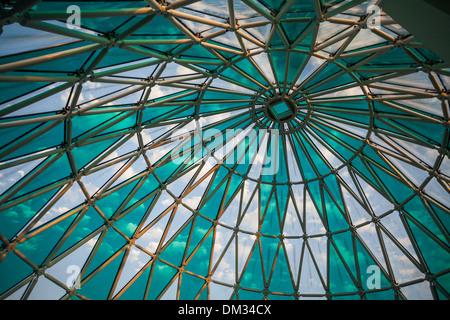 Azerbaijan Caucasus Eurasia Baku Bulvard Shopping architecture center city dome glass new open panorama park structure - Stock Photo