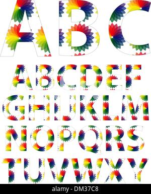 Color alphabet fonts Stock Vector Art & Illustration, Vector Image