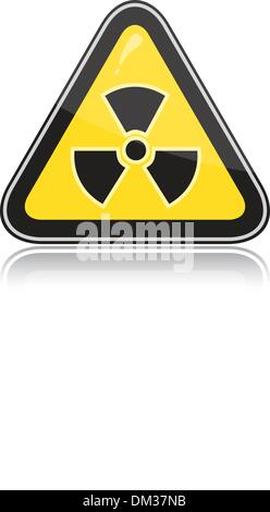 Warning radiation hazard sign - Stock Photo