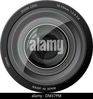 Vector camera lens. - Stock Photo