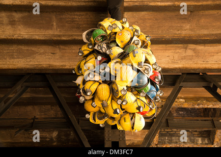 Working clothes equipment construction helmets mining mine occupation profession clothes Germany Duisburg former - Stock Photo