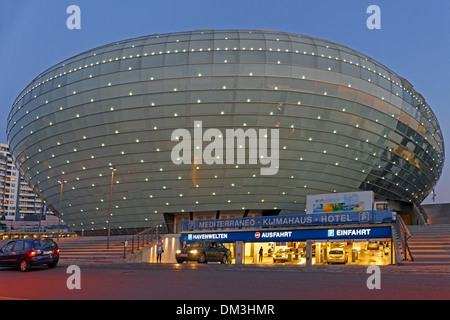 Europe Germany Bremen Bremerhaven Hermann-Heinrich-Meier-Strasse H.-H.-Meier-Strasse climate house underground parking - Stock Photo
