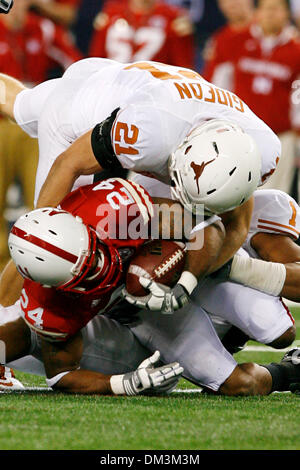 Nebraska's Paul Niles is brought down by Blake Gideon after a four yard gain in first half action. (Credit Image: - Stock Photo