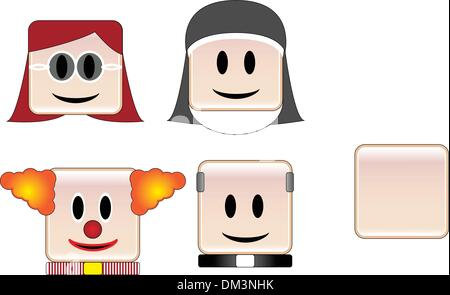 Occupations Icons - Stock Photo