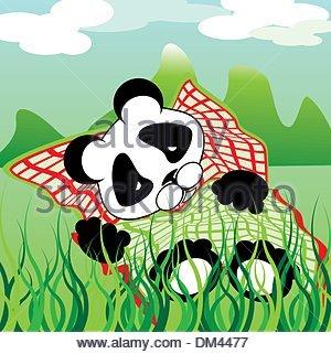 sleeping panda - Stock Photo