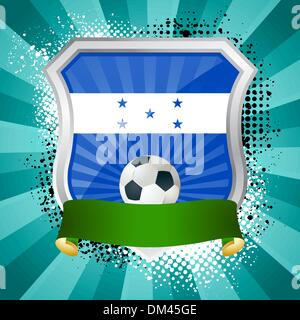 Shield with flag of  Honduras - Stock Photo