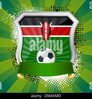 Shield with flag of  Kenya - Stock Photo
