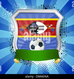Shield with flag of waziland - Stock Photo