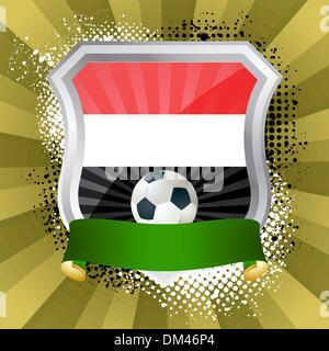 Shield with flag of  Yemen - Stock Photo