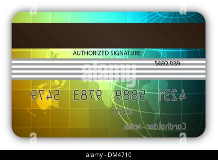 Vector credit cards, back view - Stock Photo