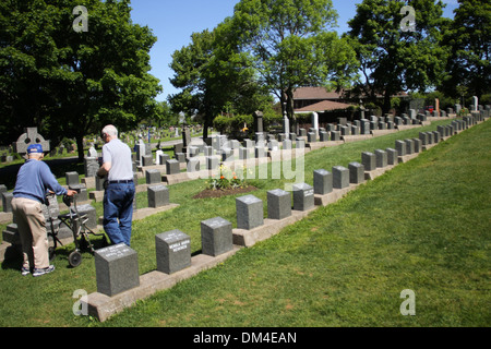 Fairview Cemetery located in Halifax, N.S. - Stock Photo