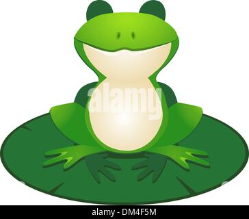 Cute frog cartoon - Stock Photo