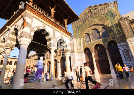 Courtyard of Umayyad Mosque, Damascus, Syria - Stock Photo