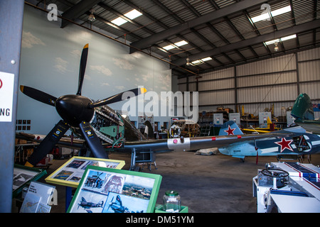 The Spitfire MK XIV  at the Commemorative Air Force Museum in Camarillo California August 2011 - Stock Photo
