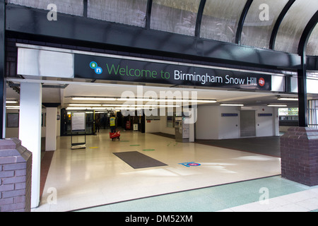 Main entrance into Birmingham Snow Hill Railway Station, Birmingham, England, UK - Stock Photo