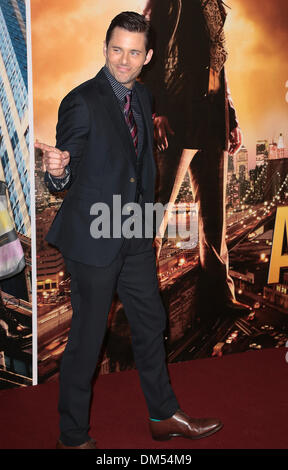 London, UK, 11th December 2013 James Marsden attends premiere for Anchorman: The Legend Continues, sequel to comedy - Stock Photo