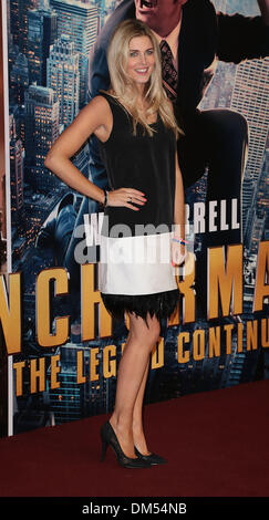 London, UK, 11th December 2013 Ashley James attends premiere for Anchorman: The Legend Continues, sequel to comedy - Stock Photo