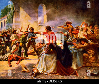 Battle Of The Alamo 1836 Stock Photo 135093279 Alamy