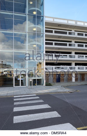 Modern multi storey car park, Southampton, Hampshire England UK - Stock Photo