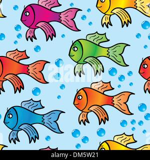 Abstract background of multicolor fishs. - Stock Photo