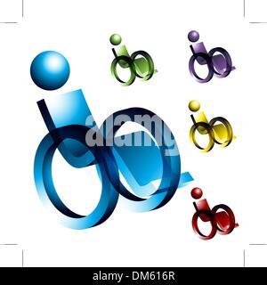 Wheelchair Icons - Stock Photo