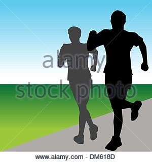 Fast Runners - Stock Photo