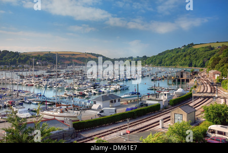 Sailing boats on the Dart Estuary from Kingswear, Devon, England. - Stock Photo