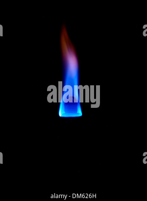 Spark set fuel on fire - Stock Photo