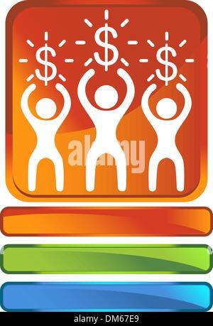 Money Button - Stock Photo