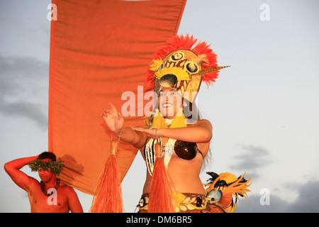 Hula dancers, Maui, Hawaii, USA - Stock Photo