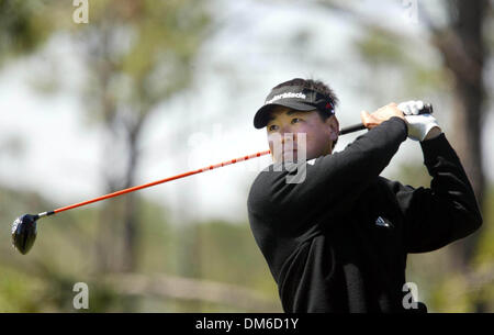 Mar 10, 2005; Palm Beach, FL, USA;  CHARLIE WI tees off on hole 5 Thursday at The Honda Classic at Mirasol in Palm - Stock Photo